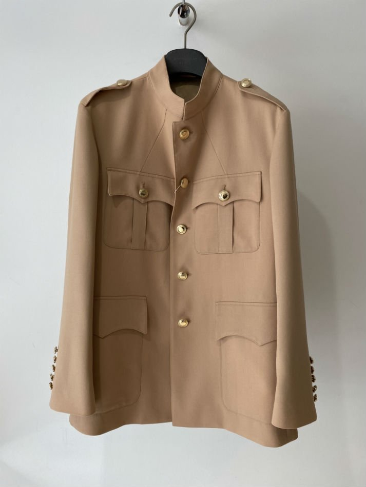 LITTLEBIG<br />Stand Collar Safari Jacket / Beige<img class='new_mark_img2' src='//img.shop-pro.jp/img/new/icons47.gif' style='border:none;display:inline;margin:0px;padding:0px;width:auto;' />