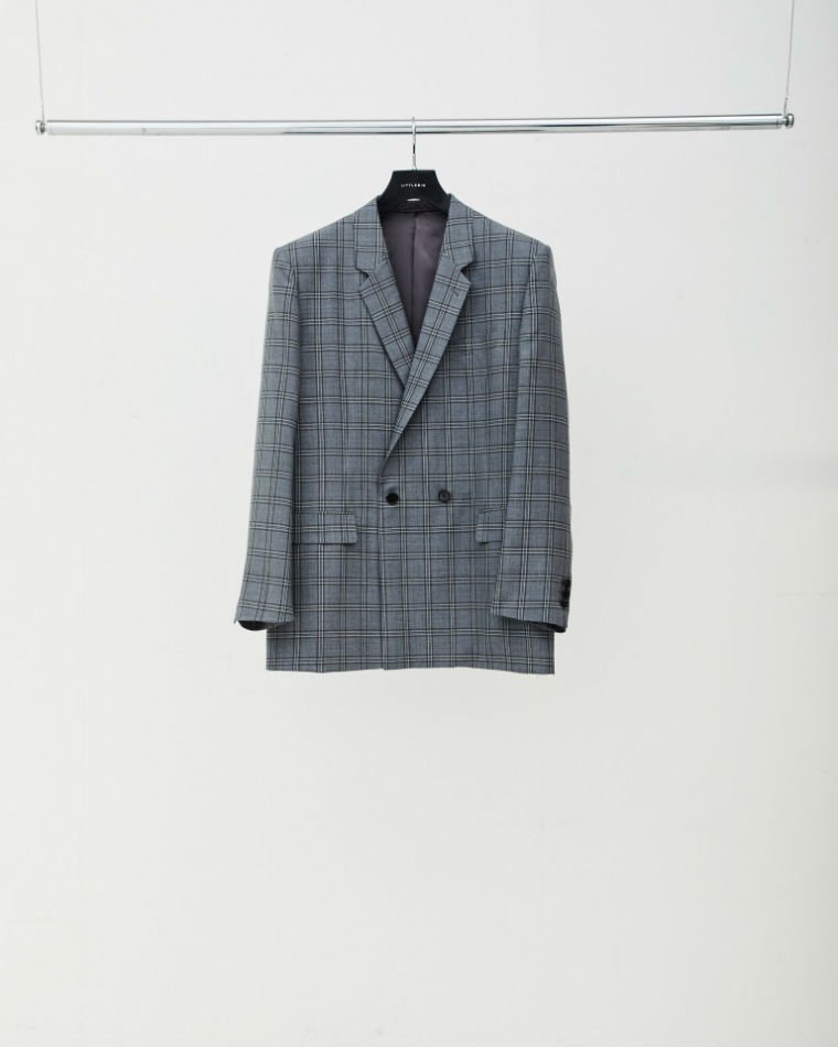 LITTLEBIG<br />Check Semi-Double Jacket&Slim Trousers SET / Grey<img class='new_mark_img2' src='//img.shop-pro.jp/img/new/icons47.gif' style='border:none;display:inline;margin:0px;padding:0px;width:auto;' />