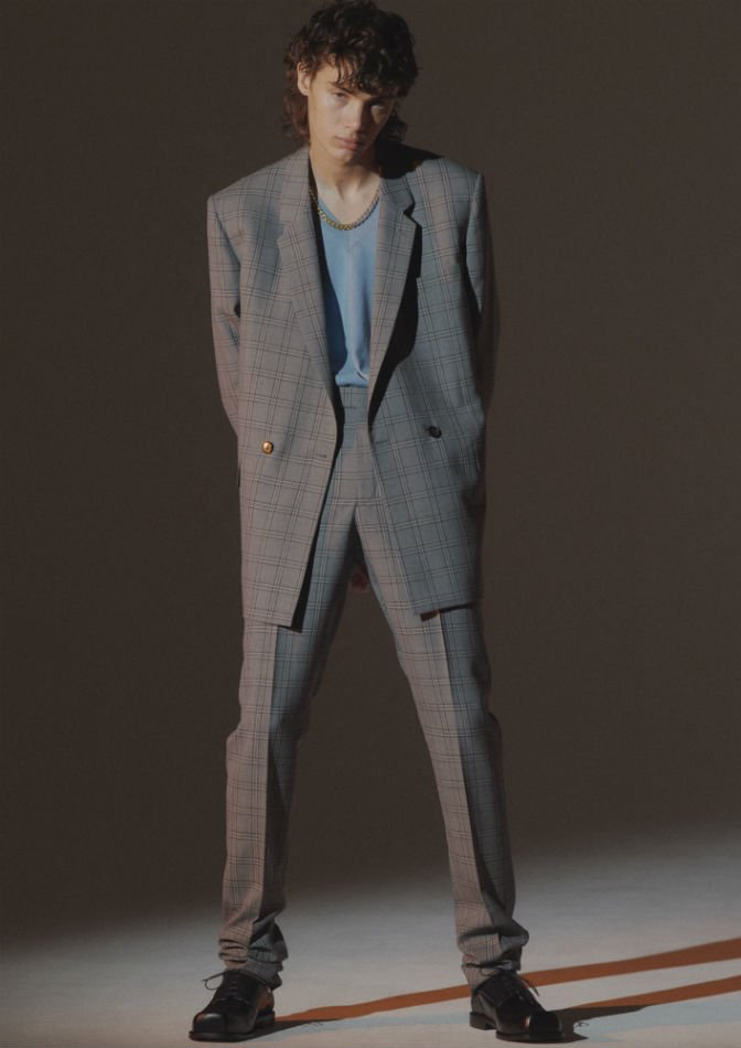 LITTLEBIG<br />Check Semi-Double Jacket&Slim Trousers SET / Grey<img class='new_mark_img2' src='https://img.shop-pro.jp/img/new/icons47.gif' style='border:none;display:inline;margin:0px;padding:0px;width:auto;' />