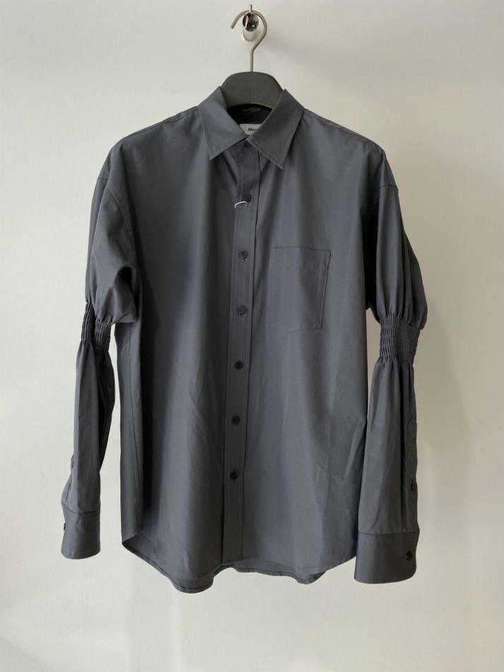 ALLEGE<br />Gather Sleeve Shirt / GRAY<img class='new_mark_img2' src='https://img.shop-pro.jp/img/new/icons47.gif' style='border:none;display:inline;margin:0px;padding:0px;width:auto;' />
