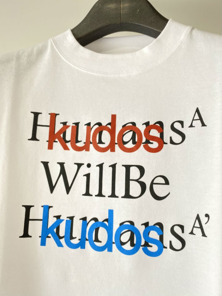 kudos<br />BLUFCAMP/KUDOS T-SHIRT / WHITE<img class='new_mark_img2' src='https://img.shop-pro.jp/img/new/icons47.gif' style='border:none;display:inline;margin:0px;padding:0px;width:auto;' />