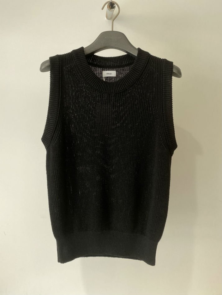 ALLEGE<br />Linen Rib Knit Vest / BLACK<img class='new_mark_img2' src='https://img.shop-pro.jp/img/new/icons47.gif' style='border:none;display:inline;margin:0px;padding:0px;width:auto;' />