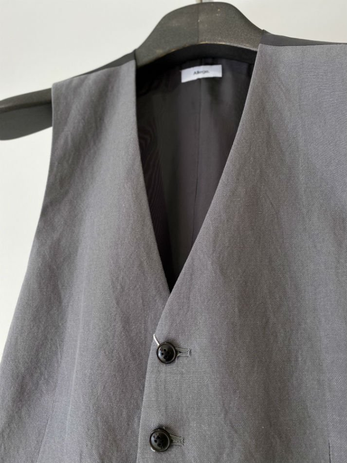 ALLEGE<br />[40%off] Wool Linen Gilet / GRAY<img class='new_mark_img2' src='https://img.shop-pro.jp/img/new/icons20.gif' style='border:none;display:inline;margin:0px;padding:0px;width:auto;' />