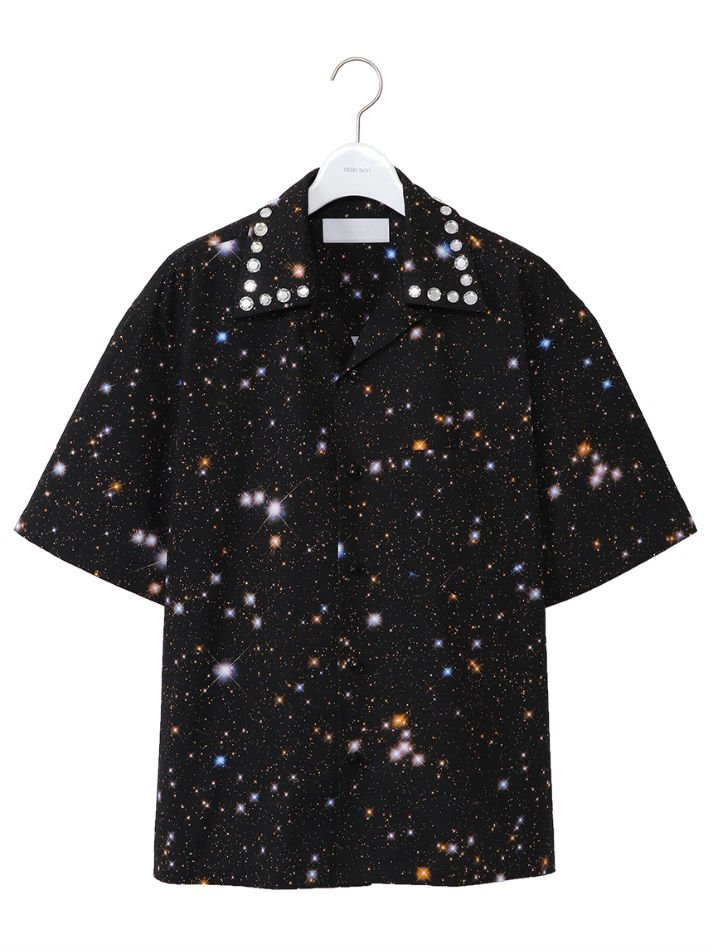 NEON SIGN<br />[30%off] Decoration Cosmo Milky CottonTwill Shirts HS / Black<img class='new_mark_img2' src='https://img.shop-pro.jp/img/new/icons20.gif' style='border:none;display:inline;margin:0px;padding:0px;width:auto;' />