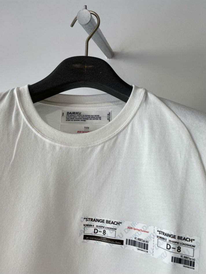 DAIRIKU<br />Movie Ticket Half-Sleeve Tee / White<img class='new_mark_img2' src='https://img.shop-pro.jp/img/new/icons47.gif' style='border:none;display:inline;margin:0px;padding:0px;width:auto;' />