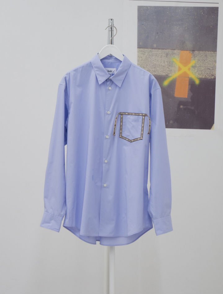 kudos<br />[30%off] SPORT TAPED SHIRT / BLUE<img class='new_mark_img2' src='https://img.shop-pro.jp/img/new/icons20.gif' style='border:none;display:inline;margin:0px;padding:0px;width:auto;' />