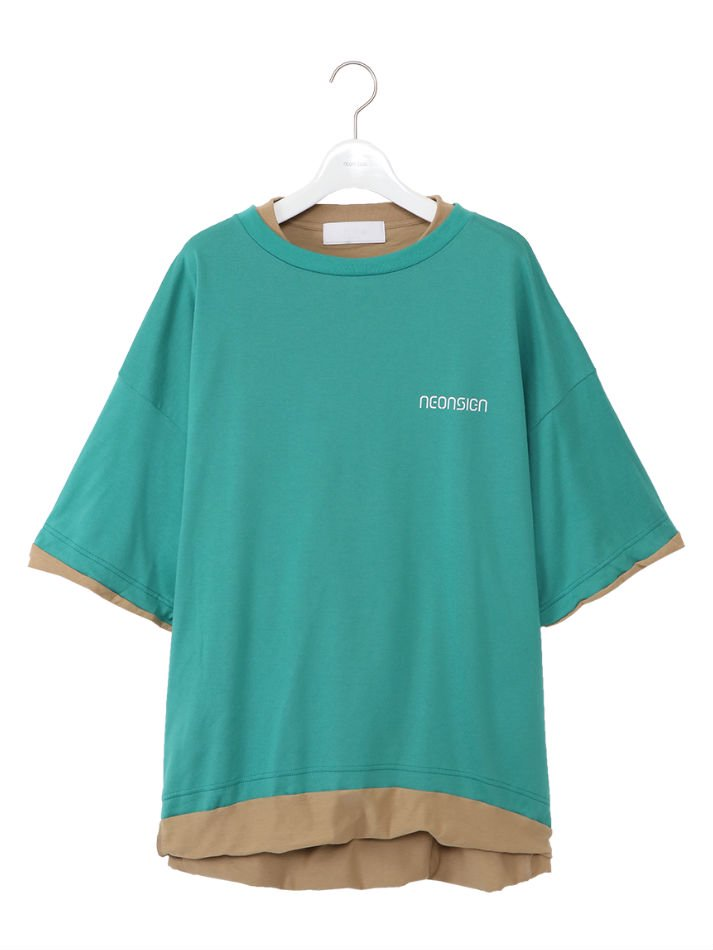 NEON SIGN<br />Sandwich T-Shirt / Green<img class='new_mark_img2' src='https://img.shop-pro.jp/img/new/icons14.gif' style='border:none;display:inline;margin:0px;padding:0px;width:auto;' />