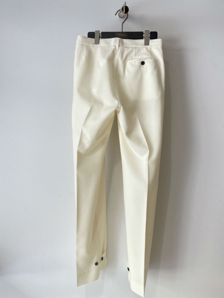 DAIRIKU<br />Deck Detail Wool Slacks / White