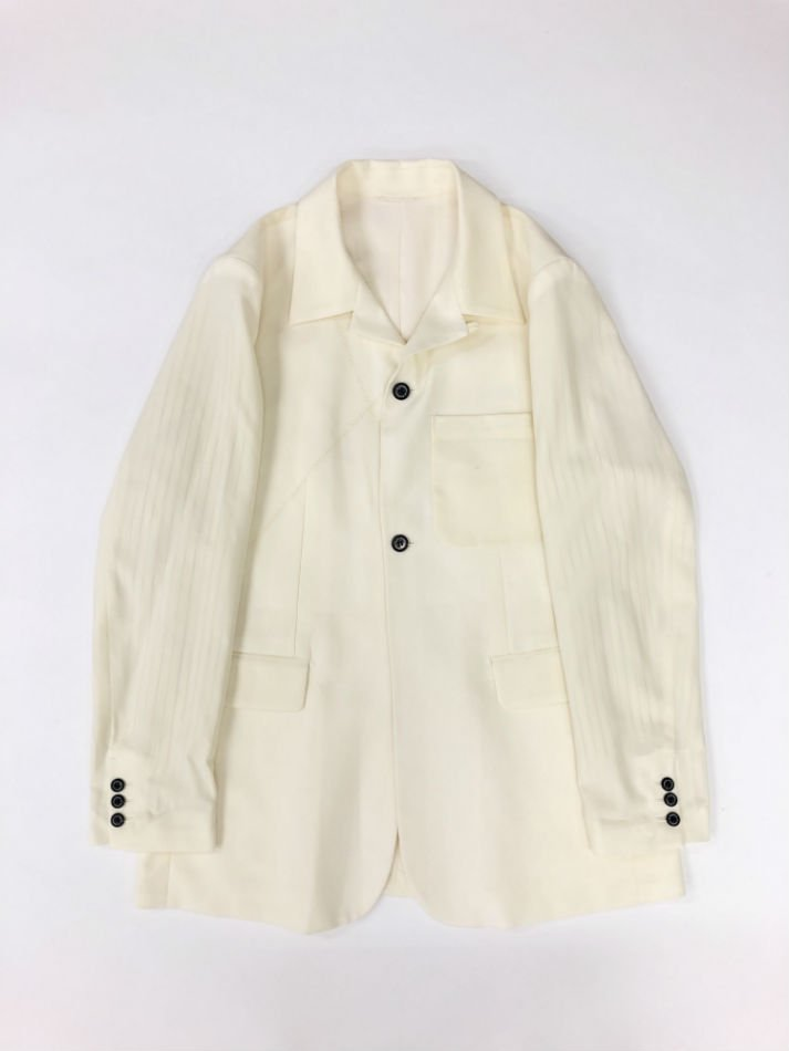 DAIRIKU<br />Open Collar Tailored Jacket / White
