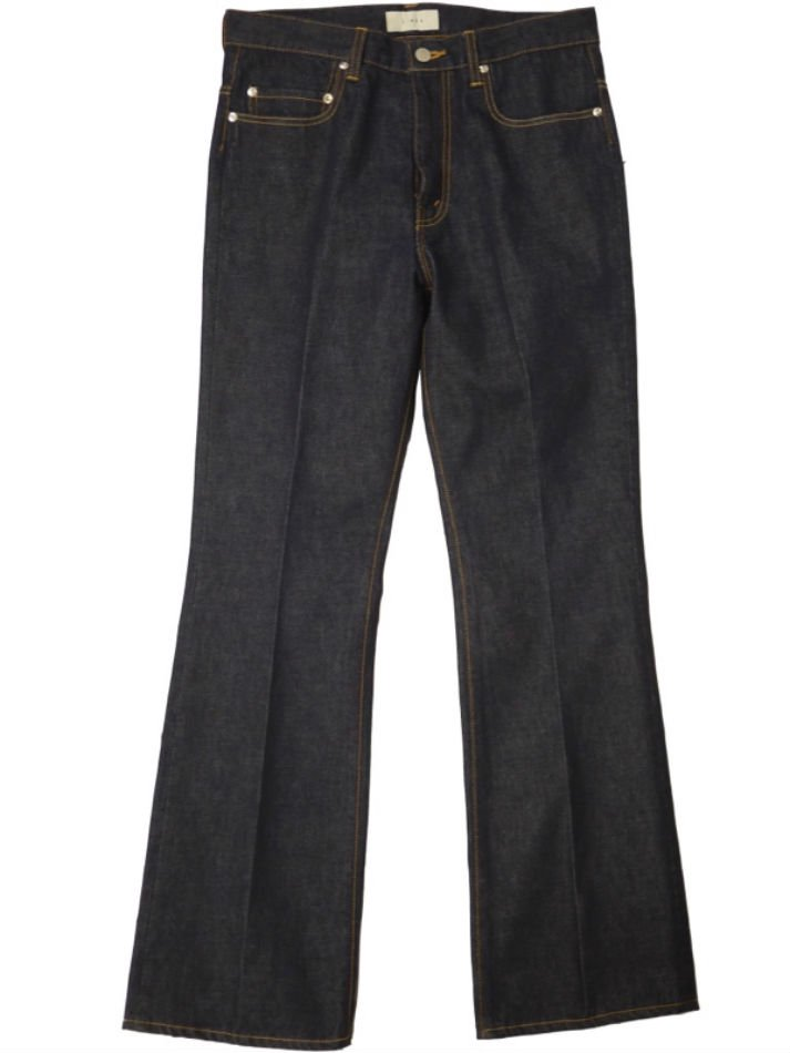 JieDa<br />OW FLARE DENIM PANTS / INDIGO
