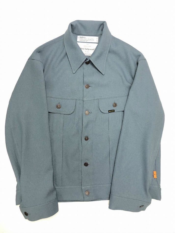 DAIRIKU<br />regular Polyester Jacket / Teal Blue <img class='new_mark_img2' src='https://img.shop-pro.jp/img/new/icons47.gif' style='border:none;display:inline;margin:0px;padding:0px;width:auto;' />