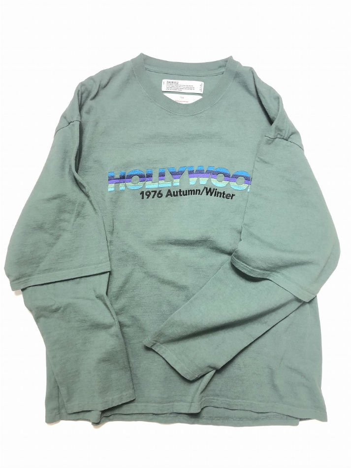 DAIRIKU<br />HOLLYWOOD Layered T-shirt / MossGreen <img class='new_mark_img2' src='https://img.shop-pro.jp/img/new/icons47.gif' style='border:none;display:inline;margin:0px;padding:0px;width:auto;' />