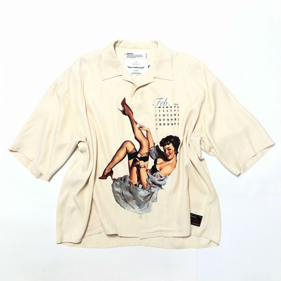 DAIRIKU<br />Pinup Girl Half Sleeve Shirt / Ivory <img class='new_mark_img2' src='https://img.shop-pro.jp/img/new/icons47.gif' style='border:none;display:inline;margin:0px;padding:0px;width:auto;' />