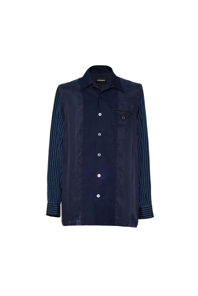 YUKI HASHIMOTO<br />LINING SHIRTS / NAVY