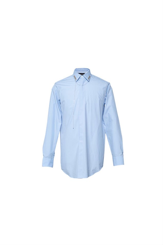 YUKI HASHIMOTO<br />COLLAR STAY SHIRTS / BLUE