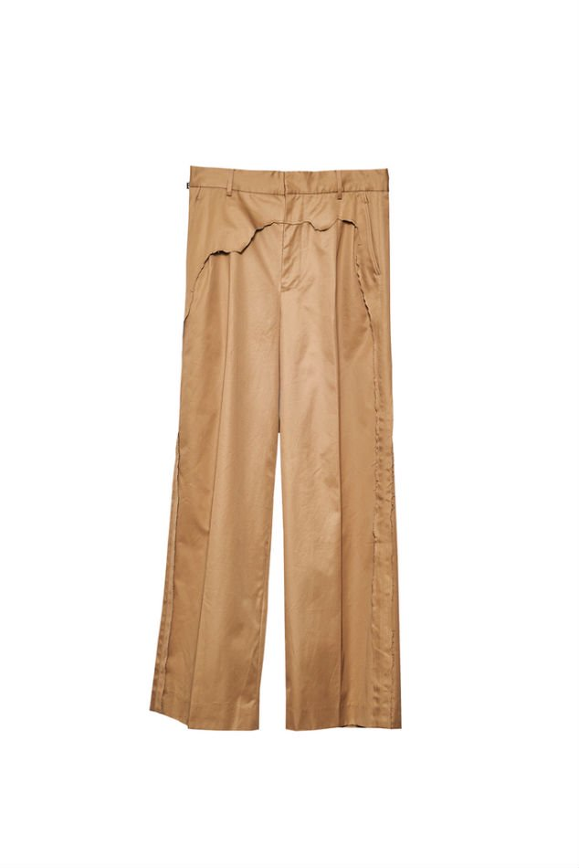 YUKI HASHIMOTO<br />LAYERED WIDE TROUSERS / CAMEL