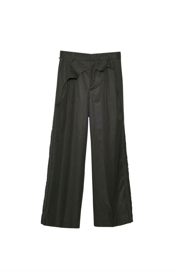 YUKI HASHIMOTO<br />LAYERED WIDE TROUSERS / BLACK