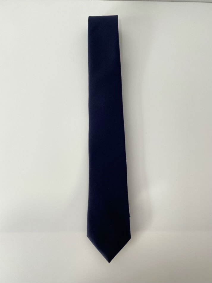 LITTLEBIG<br />Plain Satin Tie / Plain Silk Tie / Navy