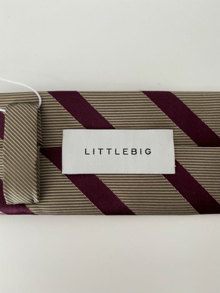 LITTLEBIG<br />Stripe Silk Tie / Beige  <img class='new_mark_img2' src='https://img.shop-pro.jp/img/new/icons14.gif' style='border:none;display:inline;margin:0px;padding:0px;width:auto;' />