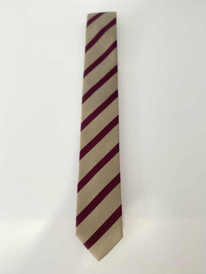 LITTLEBIG<br />Stripe Silk Tie / Beige 