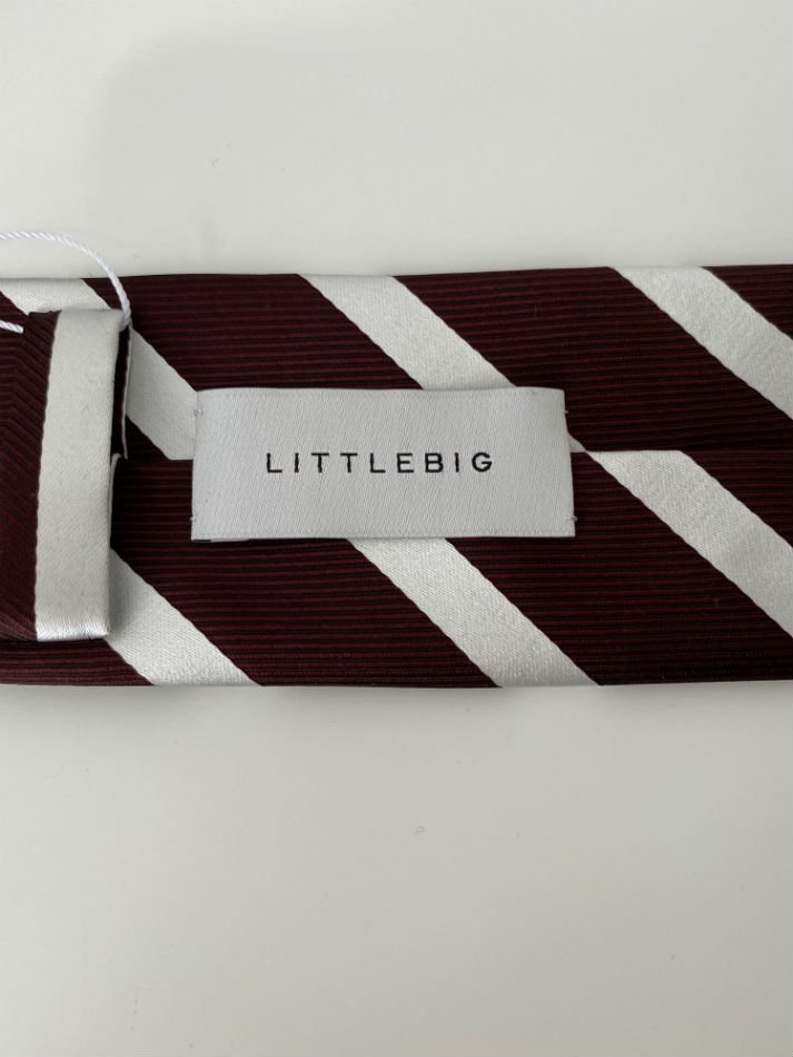 LITTLEBIG<br />Stripe Silk Tie / Bordeaux