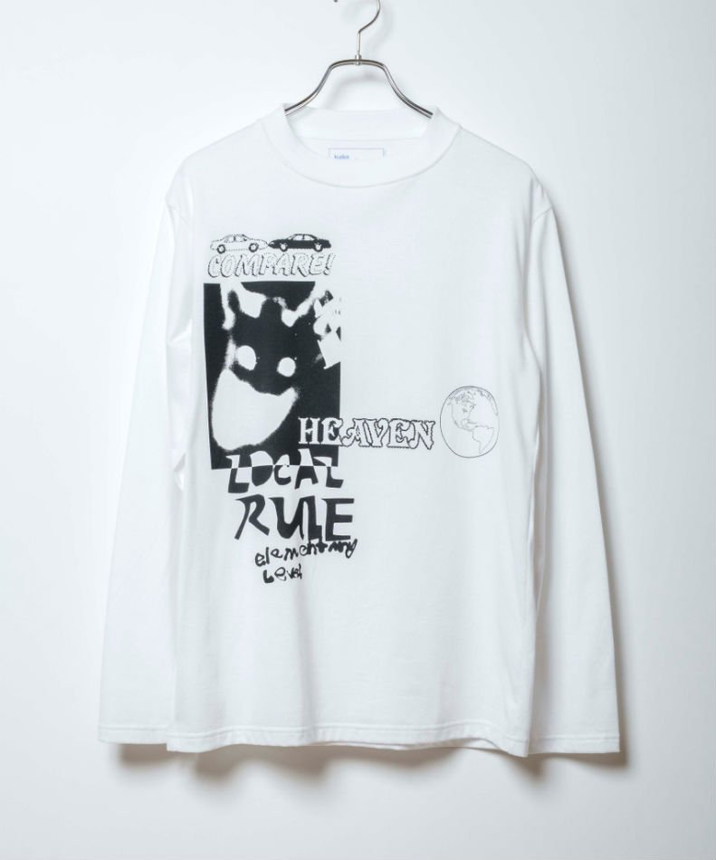 kudos<br />HEAVEN LONG T-SHIRT / WHITE <img class='new_mark_img2' src='https://img.shop-pro.jp/img/new/icons14.gif' style='border:none;display:inline;margin:0px;padding:0px;width:auto;' />