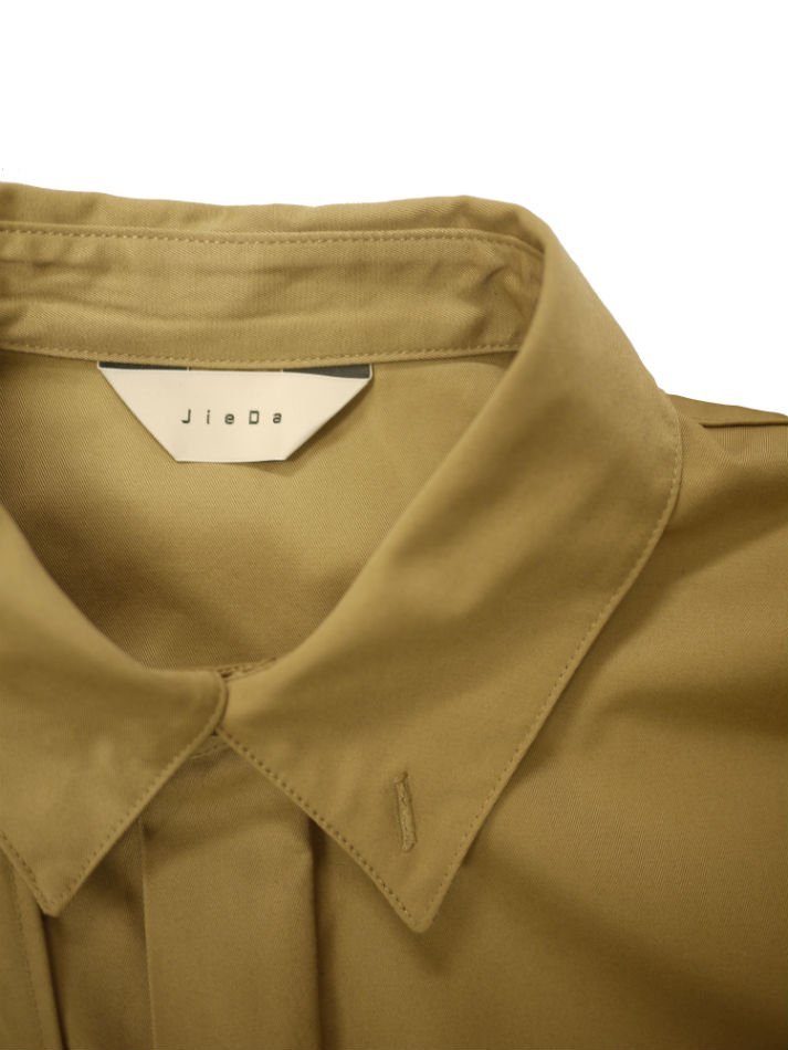 JieDa<br />T/C FLAP SHIRT / BEIGE <img class='new_mark_img2' src='https://img.shop-pro.jp/img/new/icons14.gif' style='border:none;display:inline;margin:0px;padding:0px;width:auto;' />