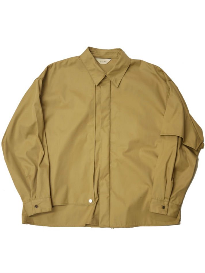 JieDa<br />T/C FLAP SHIRT / BEIGE