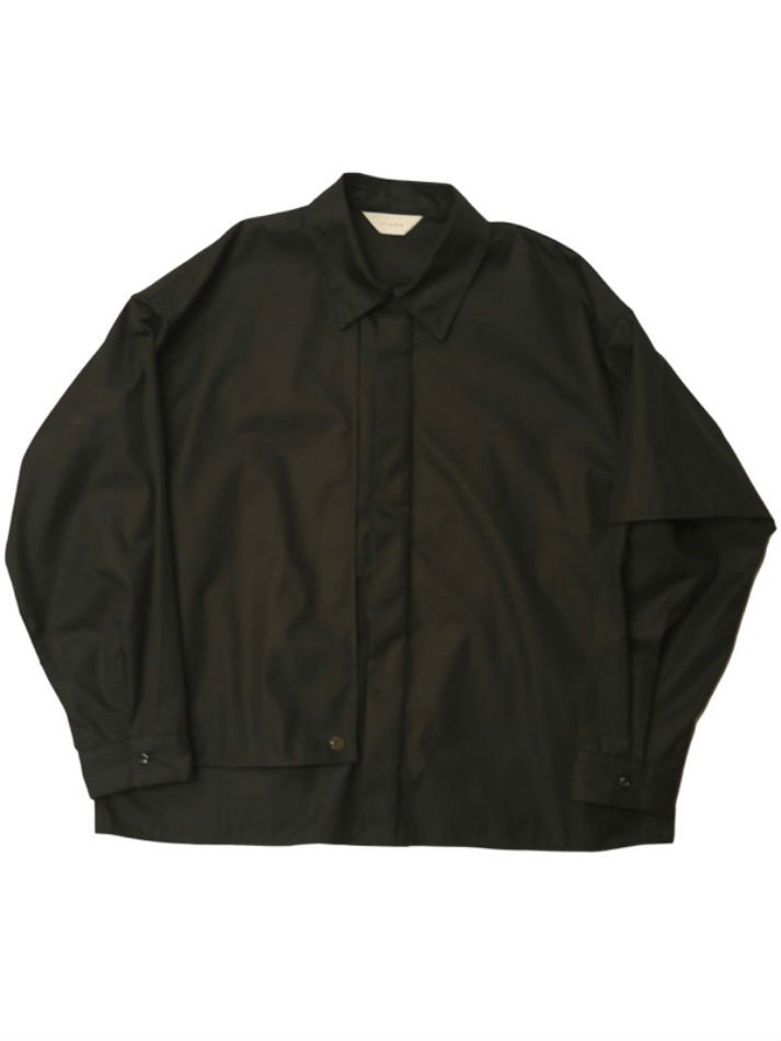 JieDa<br />T/C FLAP SHIRT / BLACK