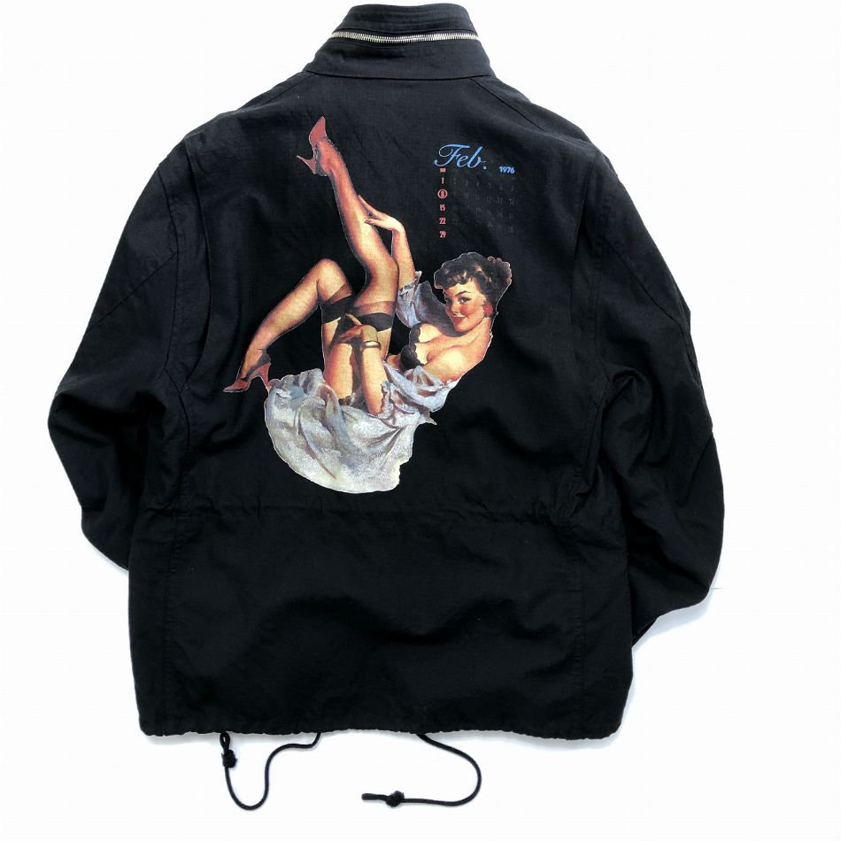 DAIRIKU<br />Pinup Girl Washed M65 Jacket / Black <img class='new_mark_img2' src='https://img.shop-pro.jp/img/new/icons47.gif' style='border:none;display:inline;margin:0px;padding:0px;width:auto;' />