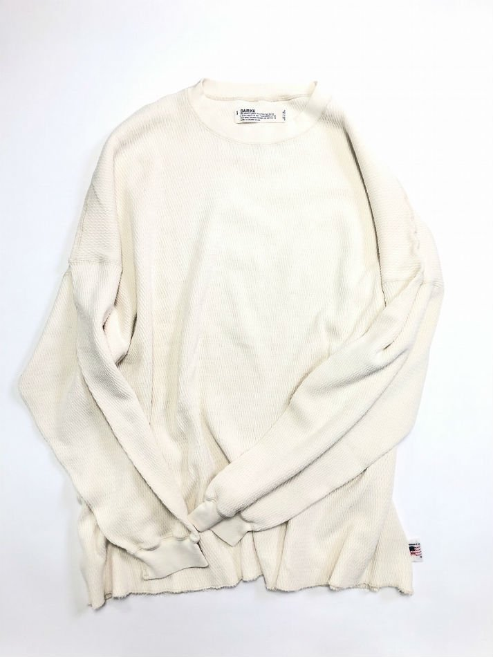 DAIRIKU<br />Washed Millitary Thermal Tee / Ecru <img class='new_mark_img2' src='https://img.shop-pro.jp/img/new/icons47.gif' style='border:none;display:inline;margin:0px;padding:0px;width:auto;' />