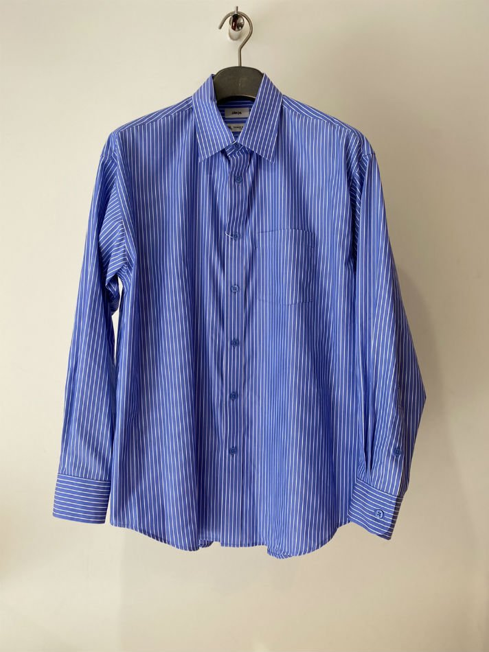 ALLEGE<br />Standard Stripe Shirt / SAX <img class='new_mark_img2' src='https://img.shop-pro.jp/img/new/icons14.gif' style='border:none;display:inline;margin:0px;padding:0px;width:auto;' />