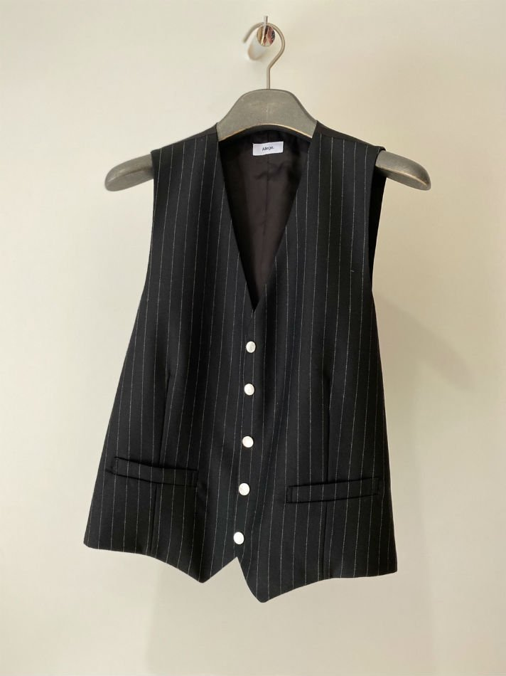 ALLEGE<br />Wool Stripe Gilet / STRIPE <img class='new_mark_img2' src='https://img.shop-pro.jp/img/new/icons14.gif' style='border:none;display:inline;margin:0px;padding:0px;width:auto;' />