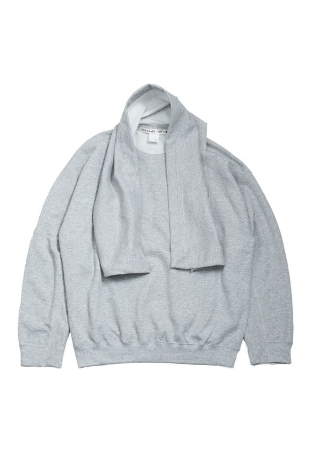 soe<br />Elbow Patched Sweat Scarf collaborated PRE_ / GRAY <img class='new_mark_img2' src='https://img.shop-pro.jp/img/new/icons14.gif' style='border:none;display:inline;margin:0px;padding:0px;width:auto;' />