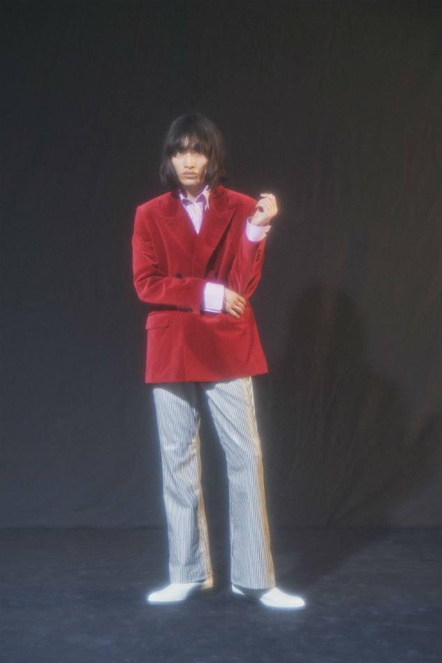 LITTLEBIG<br />Velvet 4B Double Breasted Jacket 46 & Trousers 44 SET / Red