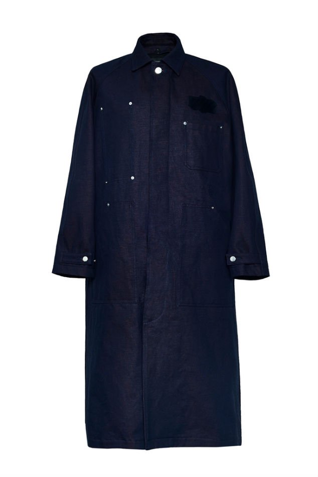 YUKI HASHIMOTO<br />PAINTER COAT / ORANGE INDIGO