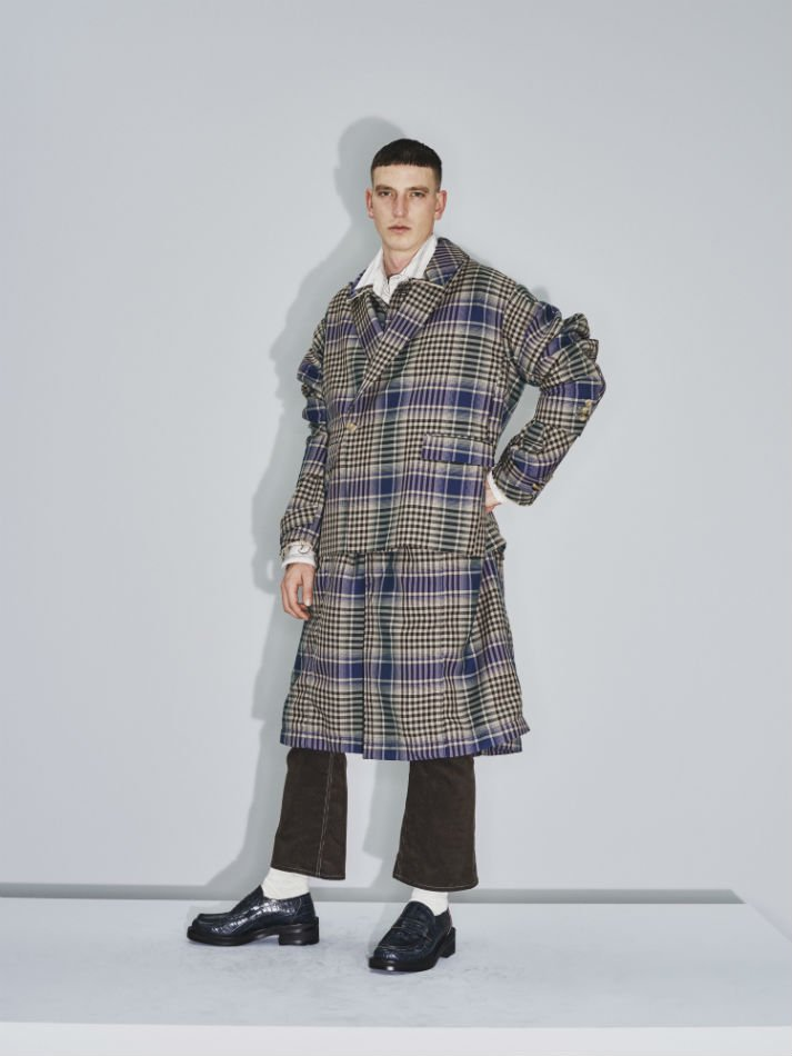 JieDa<br />CHECK OVER COAT / BEIGE <img class='new_mark_img2' src='https://img.shop-pro.jp/img/new/icons14.gif' style='border:none;display:inline;margin:0px;padding:0px;width:auto;' />