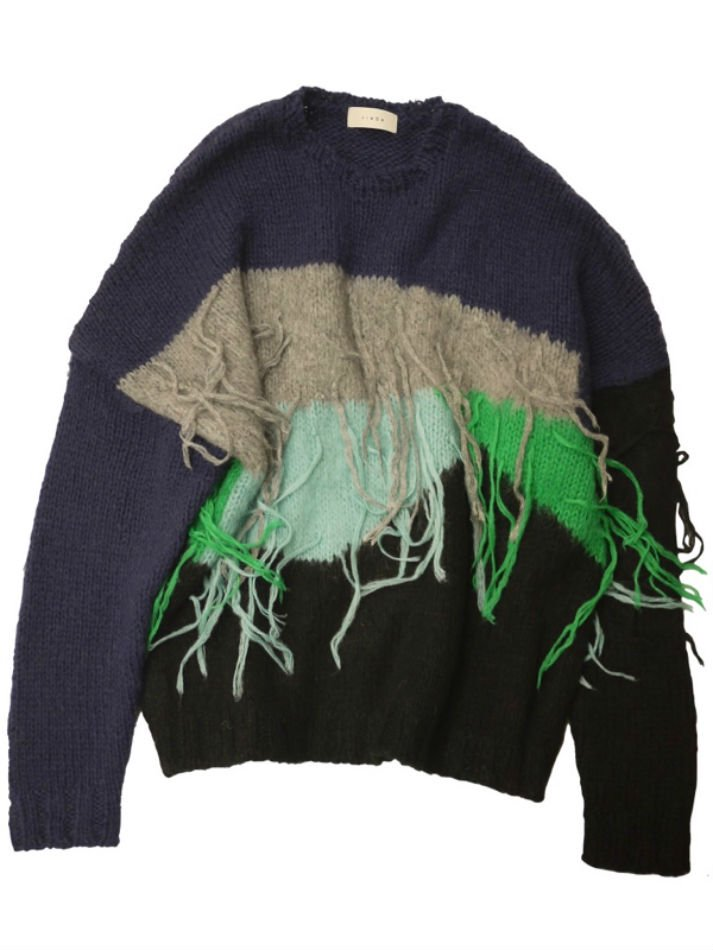 JieDa<br />PANEL OVER KNIT / NAVY <img class='new_mark_img2' src='https://img.shop-pro.jp/img/new/icons14.gif' style='border:none;display:inline;margin:0px;padding:0px;width:auto;' />
