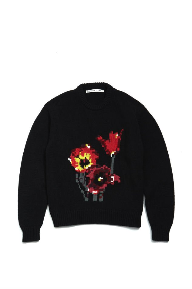 soe<br />Intarsia Knit Flower / BLACK