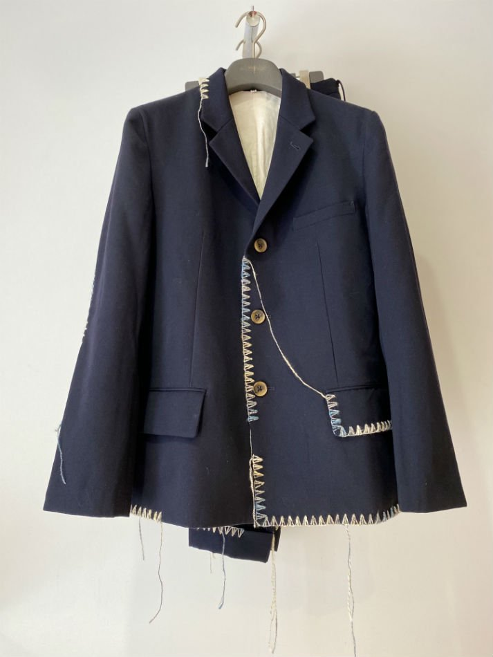 KHOKI<br />Blanket jacket & Blanket pants / Navy <img class='new_mark_img2' src='https://img.shop-pro.jp/img/new/icons14.gif' style='border:none;display:inline;margin:0px;padding:0px;width:auto;' />