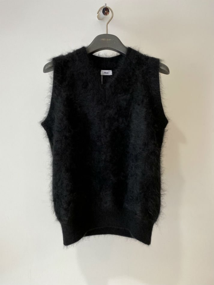 ALLEGE<br />Cashmere Mink Vest / BLACK