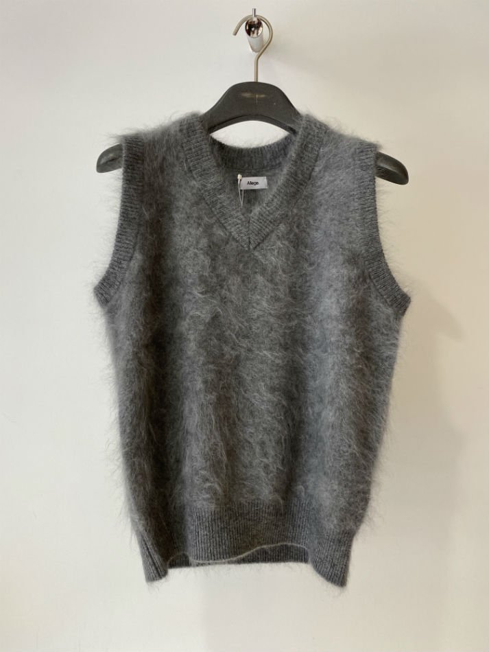 ALLEGE<br />Cashmere Mink Vest / GRAY