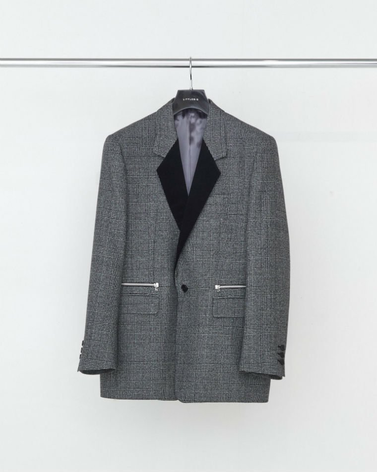 LITTLEBIG<br />Glen-Check 1B Jacket & Flare Trousers SET / Grey <img class='new_mark_img2' src='https://img.shop-pro.jp/img/new/icons47.gif' style='border:none;display:inline;margin:0px;padding:0px;width:auto;' />