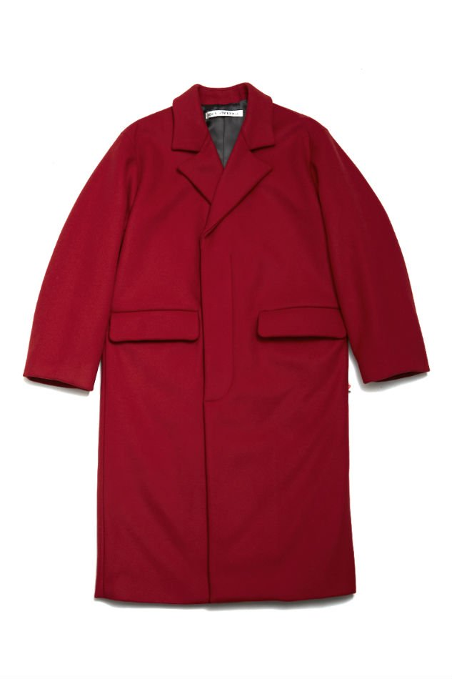 soe<br />Primaloft Padded Sleeve Wool Coat / RED