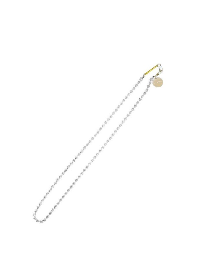 JieDa<br />FAKE DIAMONDO NECKLACE / SILVER