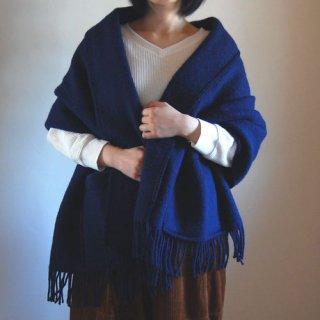 LAPUAN KANKURIT/ラプアン・カンクリ/ポケット付きショール/UNI/ブルーベリー