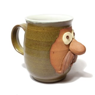 FUNNY FACE MUG / BROWN