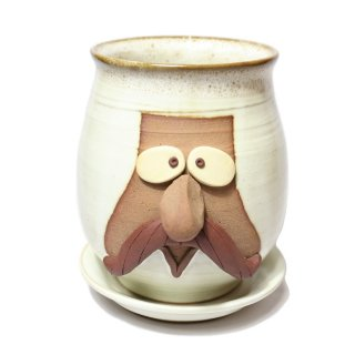 FUNNY FACE POT / WHITE