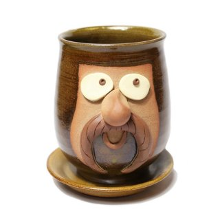FUNNY FACE POT / BROWN
