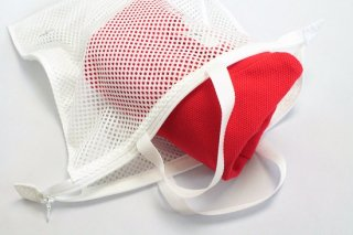 MESH WASH BAG (LARGE) / WHITE